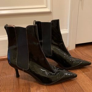 Cole Hann Patent Leather Boots
